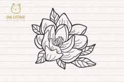 Magnolia mini Bundle SVG, Floral Monograms Cut Files, Weddin Product Image 3