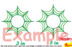 Spider Web Circle Embroidery Design Machine Instant Download Commercial Use digital Outline Frame Halloween Spiderweb 208b Product Image 4