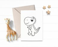 Dinosaur SVG, baby dino SVG, PNG, Cute dinosaur clipart. Product Image 2