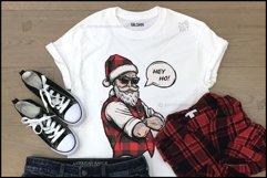 Buffalo Plaid Santa for Sublimation, Christmas Design Product Image 6