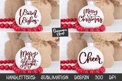 Christmas Ornament Sublimation Design Bundle Handlettered Product Image 1
