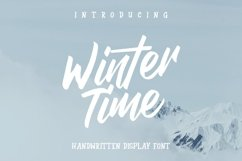 Web Font Winter Time Product Image 1