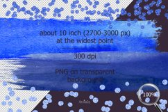 Indigo brush strokes clipart, blue watercolor PNG elements Product Image 4