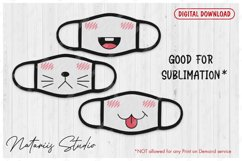 25 Cute mouths for Medical Face Mask. SVG Kawaii Style. Product Image 2