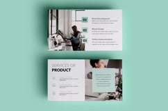 PPT Template | Project Proposal - Green and Marble Product Image 4