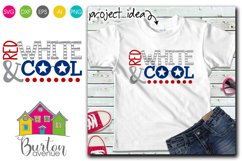 Red White and Cool SVG File Product Image 1