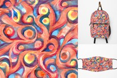 Seamless watercolor coral pattern Product Image 1