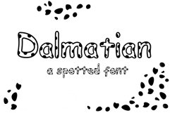 Dalmatian: A Spotted Font Product Image 1