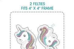 Unicorn Head Feltie Grouped Layouts Design Product Image 2