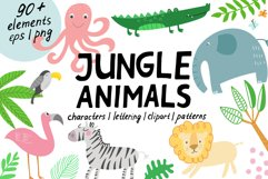 Jungle Animals Clip Art Product Image 1