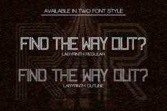 Web Font Labyrinth Typeface Product Image 5