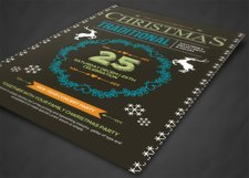 Retro Christmas Party Flyer Template Product Image 2