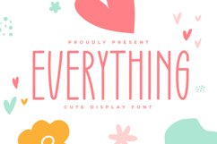 Everything - Cute Display Font Product Image 1