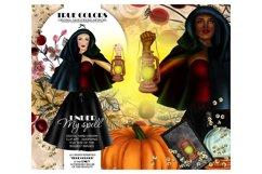 Halloween Clip art Witch Clip Art Pumpkin Clipart Product Image 1
