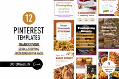 Thanksgiving Scroll Stopping Food Blogger Pinterest Pin Pack Product Image 1
