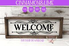 Welcome Vintage Wood Sign SVG Plus Monogram Frame Product Image 2