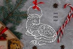 Ox, Symbol of the Year 2021, Decorative animal art Product Image 1