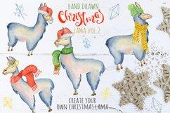 Christmas lama watercolor creator 2 Product Image 1
