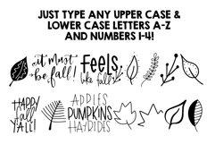 Fall Phrases Symbols Font Product Image 2