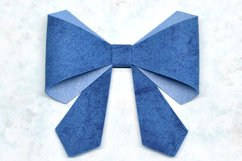 Hair bow template SVG, DIY leather bow template Product Image 1