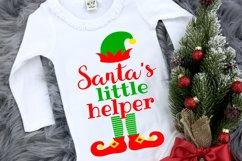 Elf Christmas Kids Santa Shirt SVG DXF EPS PNG PDF Product Image 1