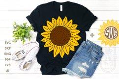 Sunflower SVG & Sunflower Monogram Frame SVG Cut Files Product Image 3