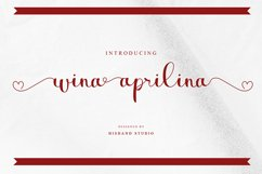 wina aprilina script font Product Image 1