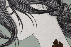 Art Print | Wall art Girl fashion,Minimalist Artwork Product Image 2