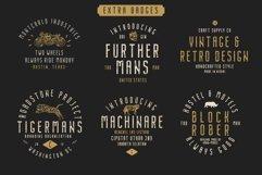 Nordin Vintage Font Family Bonus Badge Logo Product Image 2