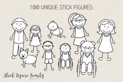 Stick Figure Family Clip Art Vector PNG SVG Product Image 2