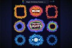 Magic Christmas Lights Vector Brushes Big Set Product Image 7
