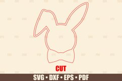 Easter Basket Tags SVG Glowforge Ready, Easter Bunny SVG Product Image 3