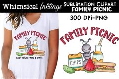 Family Picnic Sublimation Clipart Product Image 1