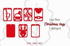 Christmas tags SVG Bundle, Christmas gift tags svg Product Image 2