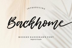 Backhome Modern Handdrawn Font Product Image 1