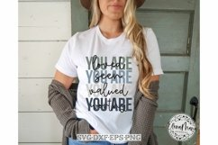 You are loved SVG Cutting File | Inspirational Motivational Product Image 1