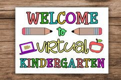 Welcome to Virtual Kindergarten- First Day Kindergarten Sign Product Image 1