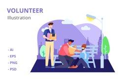 Volunteer Illustration Product Image 1