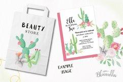 Watercolor Cactus Clipart Bouquets Arrangements Flowers Product Image 5