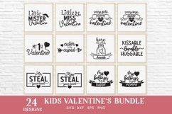 24 Kids Valentines svg bundle - kids valentines day shirt Product Image 4
