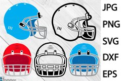 American Football Helmet - Clip art / Cutting Files 212c Product Image 1