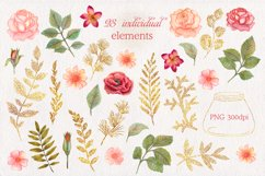 Watercolor floral clipart Product Image 4