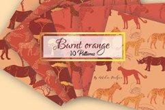 Burnt Orange Digital Paper animal Product Image 1