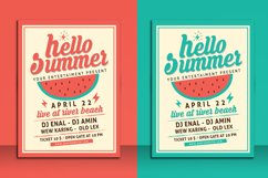 Hello Summer Party Flyer Template Product Image 1