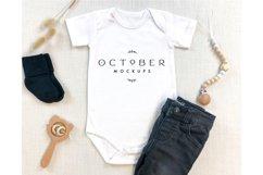Mockup Bundle Baby Boy Bodysuit White in JPG Product Image 6