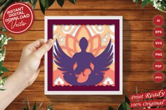 Papercut 3D Layered Mother with Child Flower and Wings SVG Product Image 3