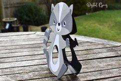 Raccoon Easter egg holder design SVG / DXF / EPS Product Image 4