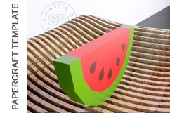 PDF Template Of 3D Watermelon Papercraft lowpoly SVG DXF Product Image 4