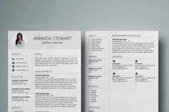 Resume Template | CV Cover Letter - Amanda Stewart Product Image 5