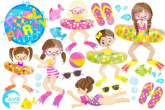 Pool party Mega clipart, graphics pack AMB-903B Product Image 4